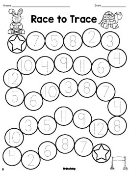 Race to Trace Number Writing Game