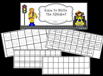 Race to Write Numbers and the Alphabet booklet