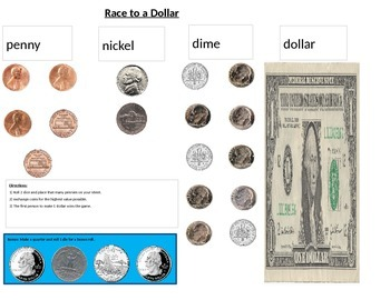 Race to a Dollar: Money Game