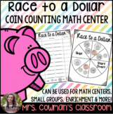 Race to a Dollar- Counting Coins Math Game