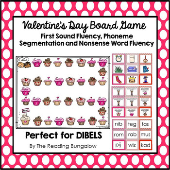 Dibels GAMES to practice FSF, PSF and NWF {Valentine's Day Edition}