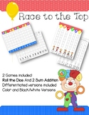 Race to the Top Math Dice and 2 Sum Addition Games #dollar