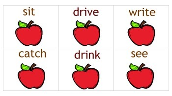 Race to the Apple! with irregular verbs