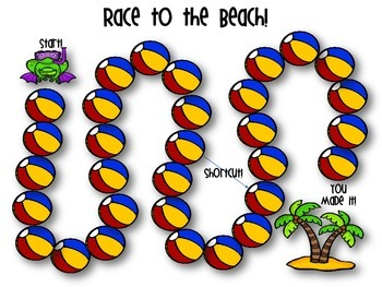 Race to the Beach!  Customary Measurement Conversion Game