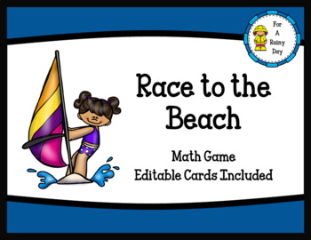 Race to the Beach (Multiplication) Ready Made and Editable Cards Included