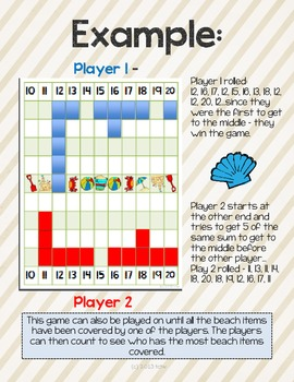 Race to the Beach {an addition game for Summer}