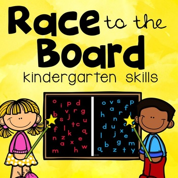 Race to the Board- Kindergarten Skills Review