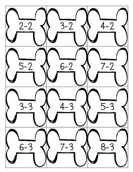 Race to the Bone - Addition & Subtraction Basic Facts to 10