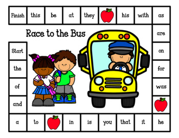 Race to the Bus-Sight Word Game (Editable Boards Included)