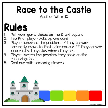 Race to the Castle-Addition within 10