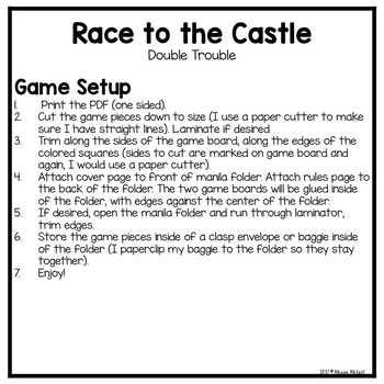 Race to the Castle-Double Trouble (Addition)