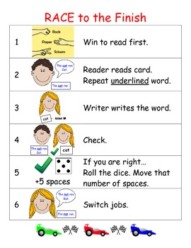 Word Work Game for use with ANY WORD LIST