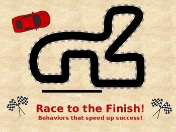 Behavior Management: Race Car Positive Reinforcement Plan with Social Story