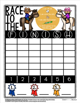 Race to the Finish Line Addition Game