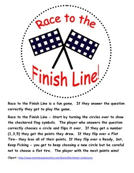 Race to the Finish Line Problem Solving