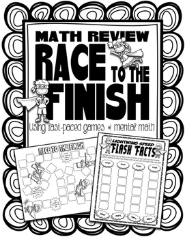 Race to the Finish Math Review Games