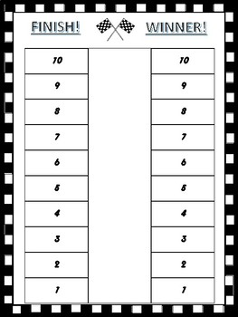 Race to the Finish! Numbers to 1000 Math Game