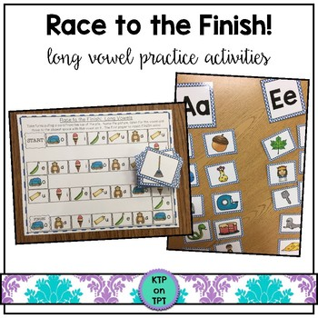 Race to the Finish! a long vowel game