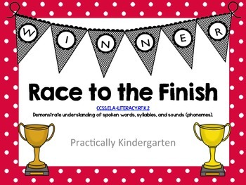 Race to the Finish - read and change CVC words to make new CVC words