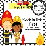Race to the Fire!:  LOW PREP Community Helper Themed Flat Shape Activity