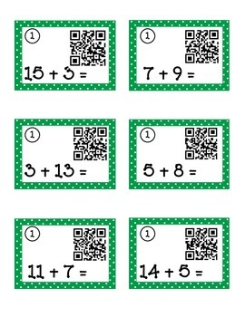 Race to the Last Space- Math Station/Center w/ QR Codes (Addition & Subtraction)