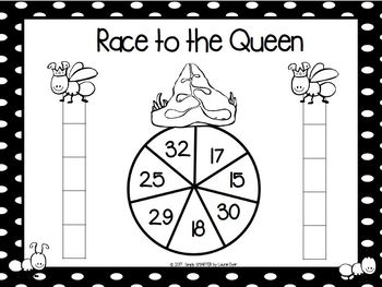 Race to the Queen:  NO PREP Ants Themed Place Value Race to the Top Game