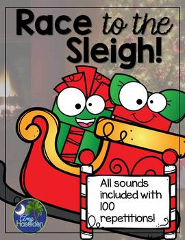 Christmas Race to the Sleigh Articulation Game 100 reps all sounds included!