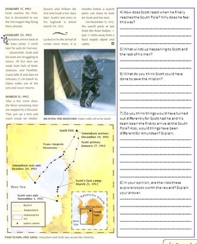 Race to the South Pole - Roald Amundsen and Robert Scott