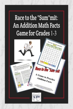 """Race to the """"Sum""""mit: A Math Facts Addition Game"""