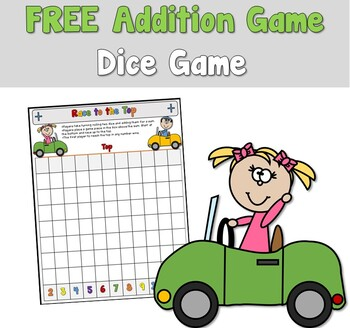 Race to the Top Addition Game Freebie