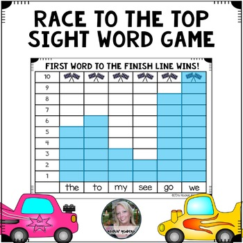 Race To The Top Editable Sight Word Game By Jd S Rockin