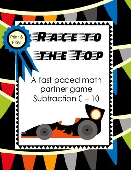 Race to the Top - Math Game {SUBTRACTION/DIFFERENCES 1-10}