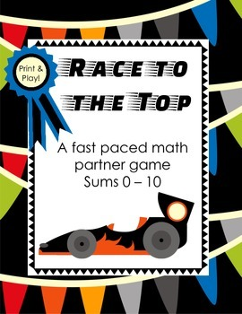 Race to the Top - Math Game {Sums/Addition 1-10}