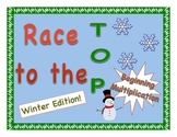 """Race to the Top"" No-Prep Early Multiplication Game - Wint"