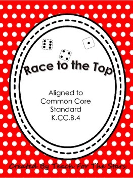 Kindergarten Race to the Top Number Recognition Game: K.CC.B.4