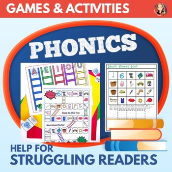 Short Vowel Games and 8 Phonics Center Activities