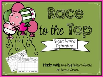 Race to the Top (with Sight Words)