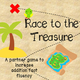 Race to the Treasure Addition Fact Fluency Game