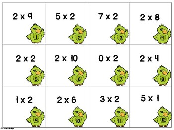 Race to the Treasure: Multiplication Board Game