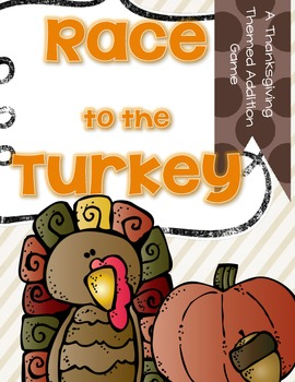 Race to the Turkey {an addition game for Fall}