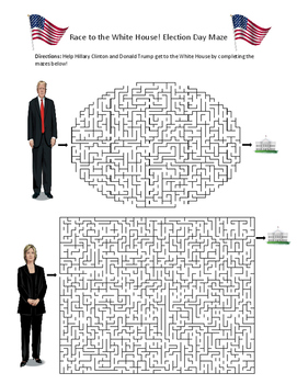 Election Day Maze- Race to the White House!