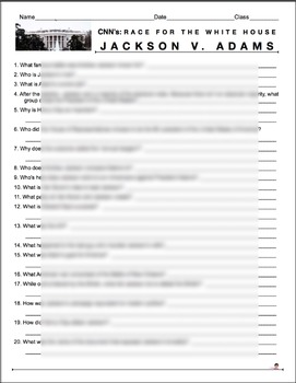 "Race to the Whitehouse ""Jackson v. Adams Video Guide + Weblink"