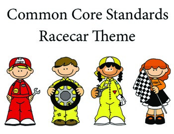 Racecar 1st grade English Common core standards posters