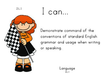Racecar 2nd grade English Common core standards posters