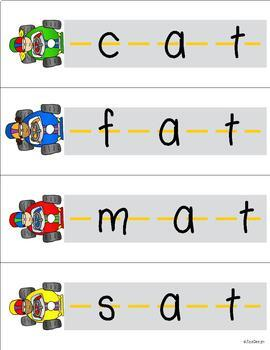 Racecar CVC Blending - Short Vowel Bundle!