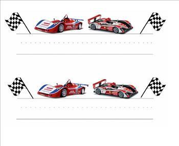 Racing Theme / Racecar Nametags