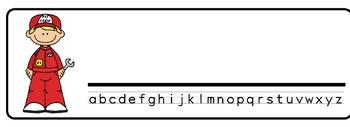 Racecar Theme Desk Nameplates (Set of Four)