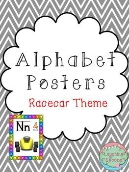 Racecar Themed Alphabet Posters