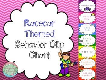 Racecar Themed Behavior Clip Chart