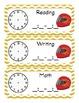 Racer/ Racecar Themed Classroom Schedule